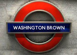 """UK Metro sign with """"Washington Brown"""""""